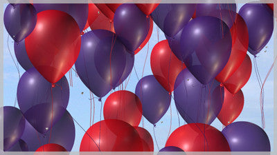 Balloons Purple and Red