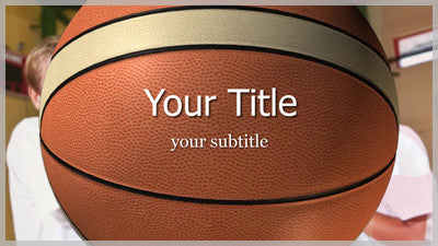 Basketball Title Slide Style