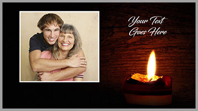 Candlelight Tribute Template, Styles, and Transitions for Photopia