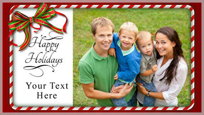 Happy Holidays Candy Cane Frame Slide Style