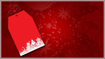 Christmas Tag Red Background