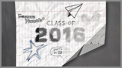 Class of 2016 Crumpled Paper Video Background