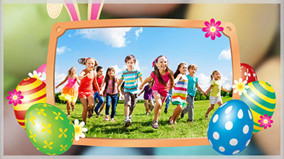 Easter Bunny Eggs and Frame Slide Style