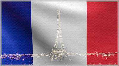 France Flag with Eiffel Tower