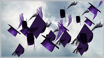 Grad Cap Toss - Purple