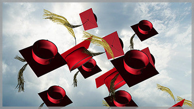 Grad Cap Toss - Red