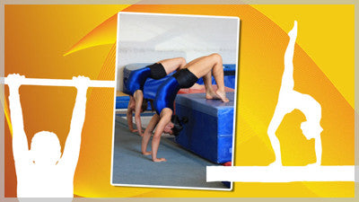 Gymnast Silhouette Slide Style