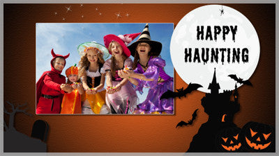 Happy Haunting Slide Style