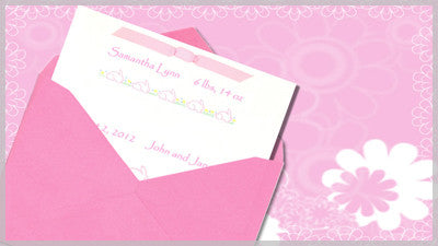 Baby Invitation Pink Slide Style