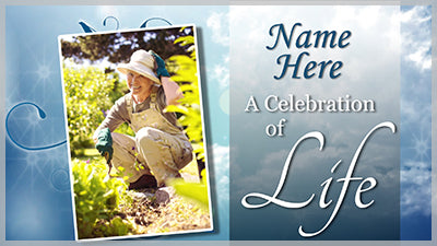 Celebration of Life Title Slide for Photopia