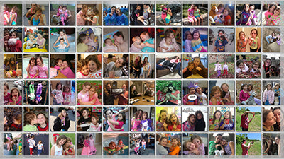 Mosaic Photo Reveal Template for Photopia