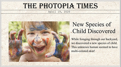 Newspaper Styles for Photopia