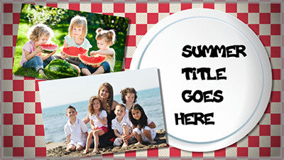 Picnic Title Slide Style