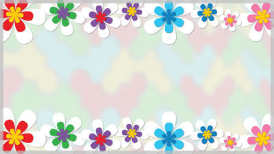 Spring Flower Border Still Background
