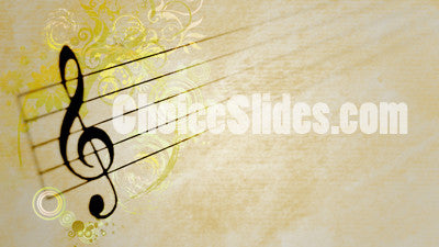 Treble Clef Grunge Background