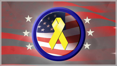 United States Yellow Ribbon Background