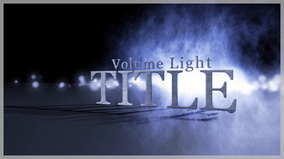 Volume Light Title for After Effects