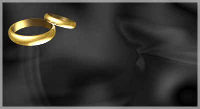 Wedding Rings On Black