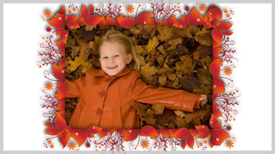 Colorful Leaves Frame Slide Styles