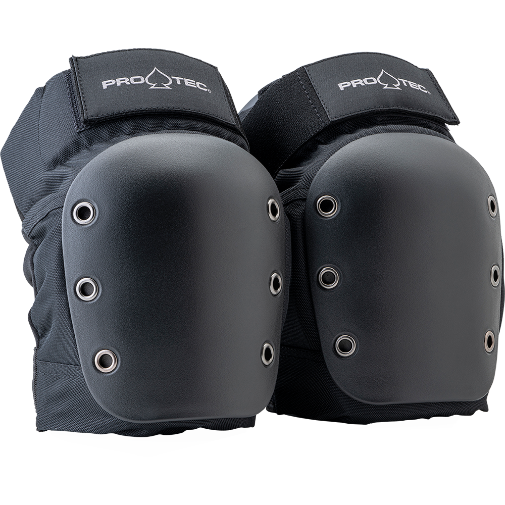 Street Knee Pads Open Back - Black