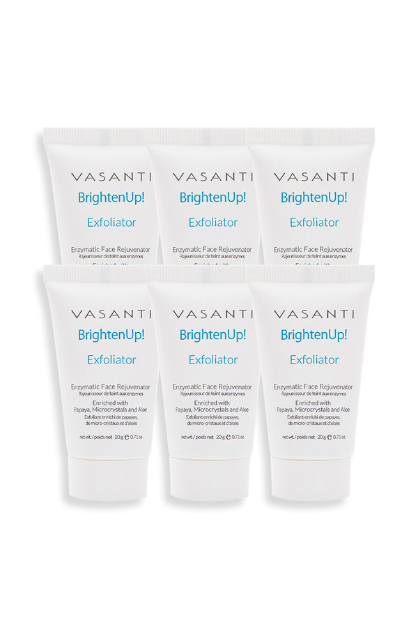 Vasanti Brighten Up! Bundle of Joy - 6pcs Brighten Up! Exfoliator