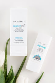 Vasanti Brighten Up! Exfoliator and Vasanti Brighten Up! Amplify Moisturizer Kit - Lifestyle Shot