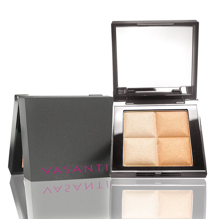 Vasanti See The Light Powder Highlighter Duo - Shade Golden Child Front Shot