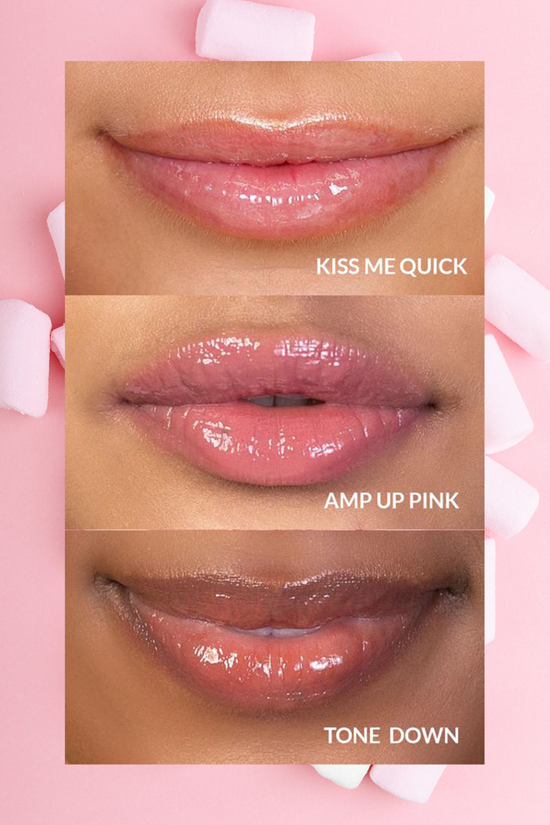 Vasanti Hyaluronic Boost Lip Plumper Lip Swatches