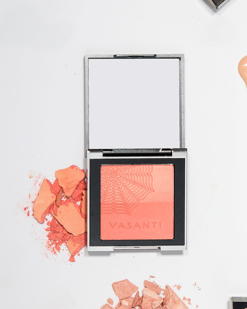 Vasanti Blush Duo - crushed makeup Lifestyle Shot