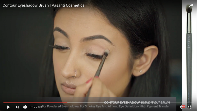 Vasanti Contour Eyeshadow - Blend it out brush - Screenshot from Youtube video