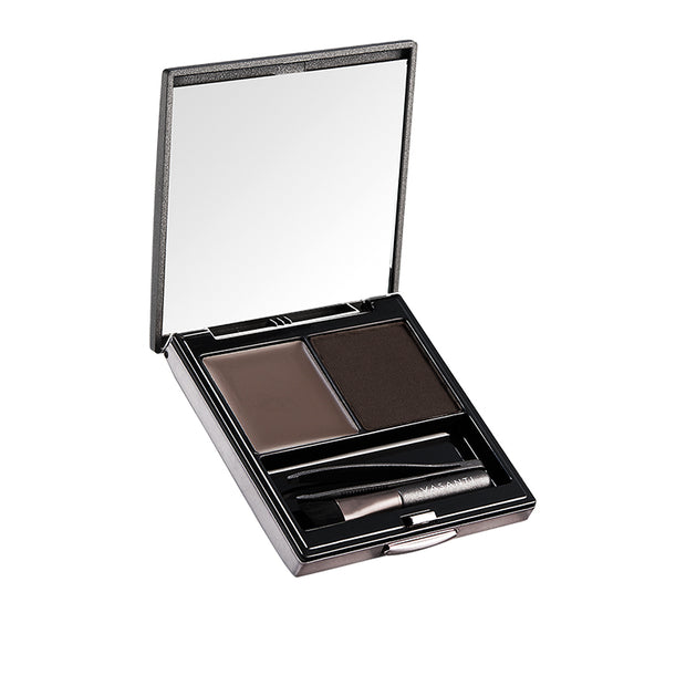 Vasanti Dynamic Brow Duo Kit - Shade Deep Thought - Deep Brown Black - Front Shot