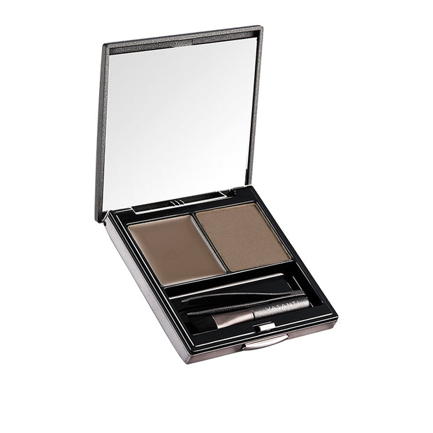 Vasanti Dynamic Brow Duo Kit - Shade Happy Medium - Medium Taupe - Front Shot