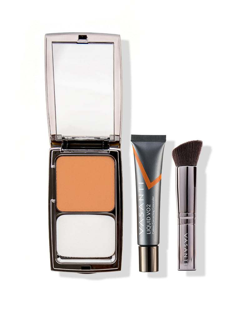 Liquid VO2 Dark Circle Eraser & Face-Base Foundation + VO2 Brush