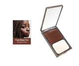 Vasanti Face Base Powder Foundation - Shade V816 Deepest Rich - Product shot and skin complexion