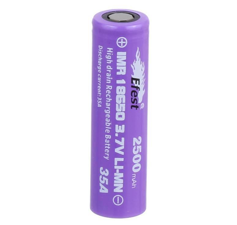Efest IMR 35A 18650 2500mah 3.7V High Drain Rechargeable LiMn Battery Flat Top