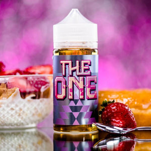 The One 100ml STRAWBERRY DOUGHNUT, CEREAL, MILK  Bottle Size:100ml  Nicotine 0mg, 3mg, 6mg  VG/PG: 70VG/30PG Made In The USA