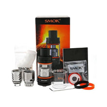 contents n the Smoktech TFV8 Sub-Ohm Tank package