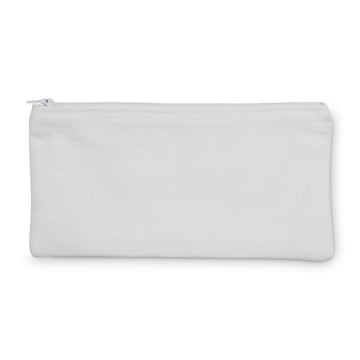 100% Cotton Drill Zip Pouch 24x12