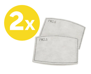 2 x adult filters for PM2.5 Face mask