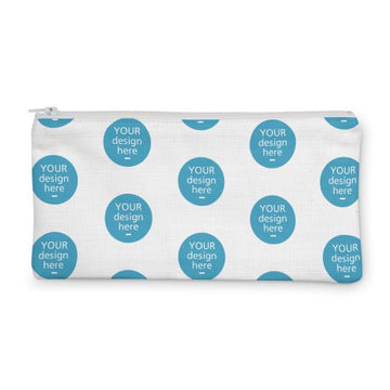 100% Cotton Drill Zip Pouch