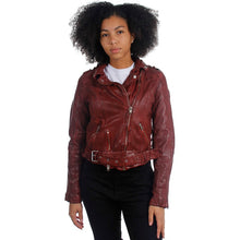 Load image into Gallery viewer, Wild RF Leather Jacket- Ox Blood