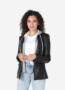 Central Park West - ASPEN FAUX LEATHER BLAZER