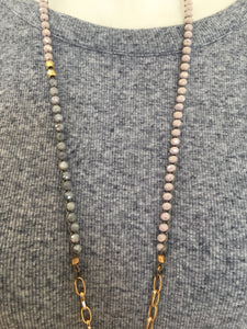 Chain Cluster Beaded Necklace