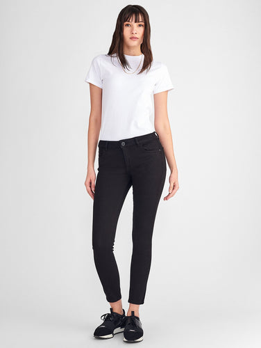 Florence Ankle Mid Rise Skinny Hail