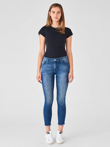 Florence Crop Mid Rise Skinny Stranded