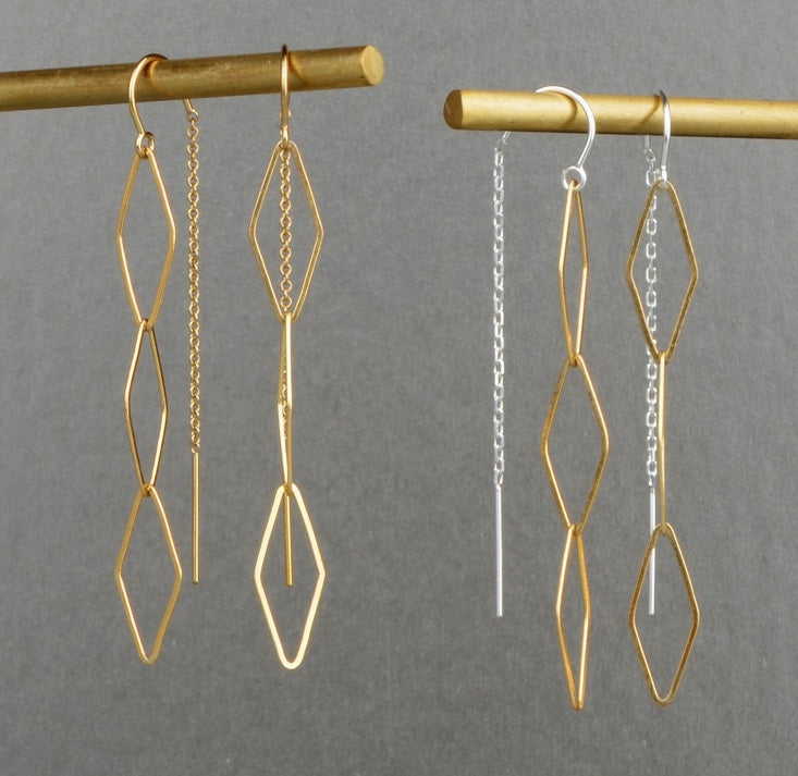 Triple Kite Threaders - Earrings