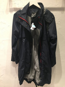 Long Anorak - Navy with Red Zipper