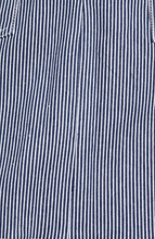 Load image into Gallery viewer, Furia Stripe Raw Hem Miniskirt In Lapis - Cupcakes & Cashmere
