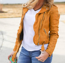 Load image into Gallery viewer, Wild Leather Jacket- Sunrise