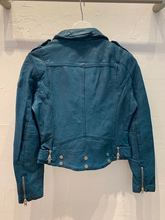 Load image into Gallery viewer, Wild Leather Jacket in Teal